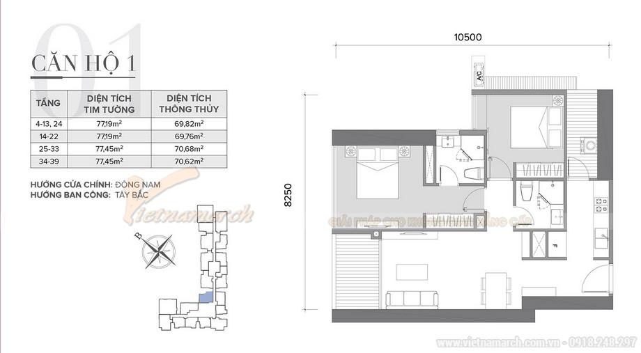 Thiết kế nội thất hiện đại cho căn hộ 01 tòa S2 chung cư Vinhomes Skylake-01