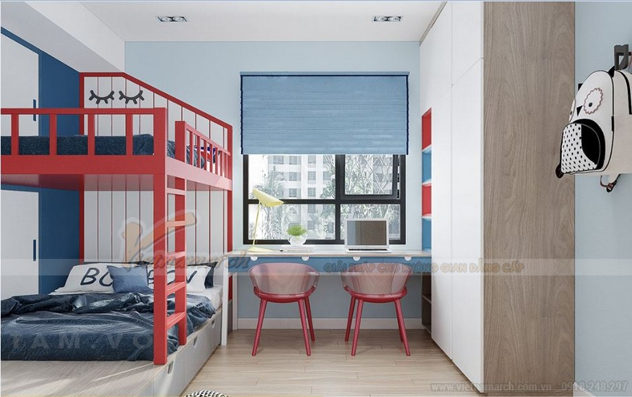 Thiết kế nội thất hiện đại cho căn hộ 01 tòa S2 chung cư Vinhomes Skylake-06