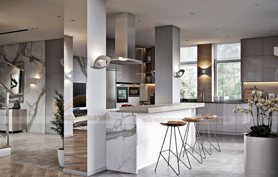 Thiết kế nội thất hiện đại cho căn hộ 01 tòa S2 chung cư Vinhomes Skylake-03
