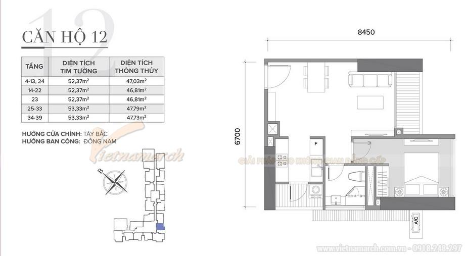 Thiết kế nội thất hiện đại sang trọng căn hộ 12 tòa S2 chung cư Vinhome Skylake-01