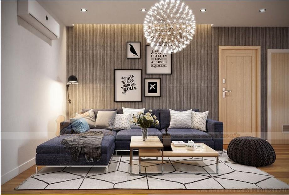 Thiết kế nội thất phòng khách hiện đại cho căn hộ Vinhome Skylake-05