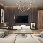 Thiết kế nội thất phòng khách hiện đại cho căn hộ Vinhome Skylake