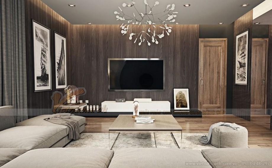Thiết kế nội thất phòng khách hiện đại cho căn hộ Vinhome Skylake-03