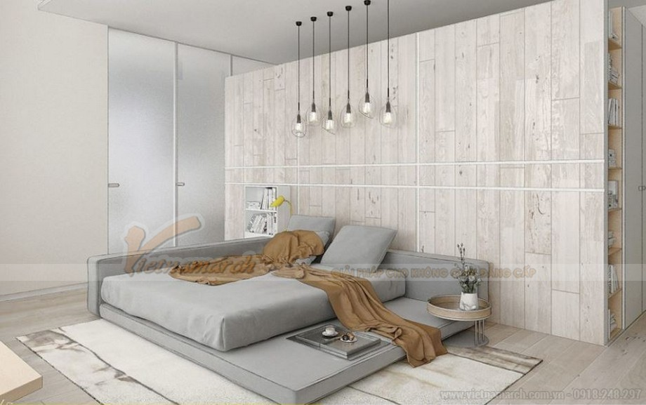 Thiết kế nội thất phòng ngủ đẹp lung linh cho căn hộ Vinhome Skylake-01