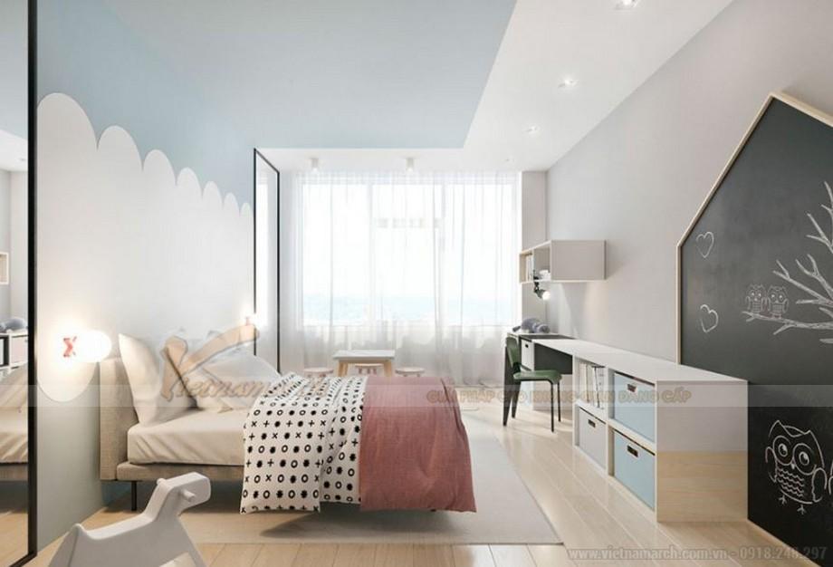 Thiết kế nội thất phòng ngủ đẹp lung linh cho căn hộ Vinhome Skylake-06