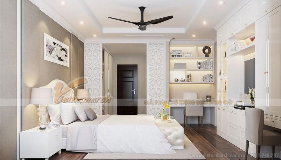 Không gian nội thất phòng ngủ master căn hộ 04 tòa A2 Vinhomes Gardenia