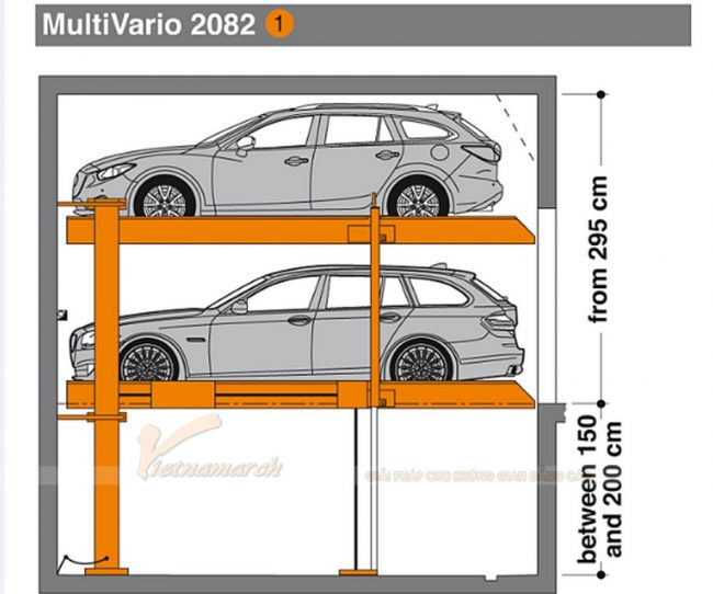 hệ thống bãi đỗ xe MultiVario 2082