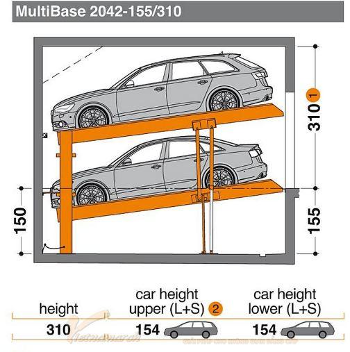 Hệ thống đỗ xe tự động Multibase 2042