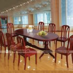 Mẫu bàn ăn kết hợp hoàn hảo giữa tính đơn giản, hiện đại và thanh lịch cho phòng bếp
