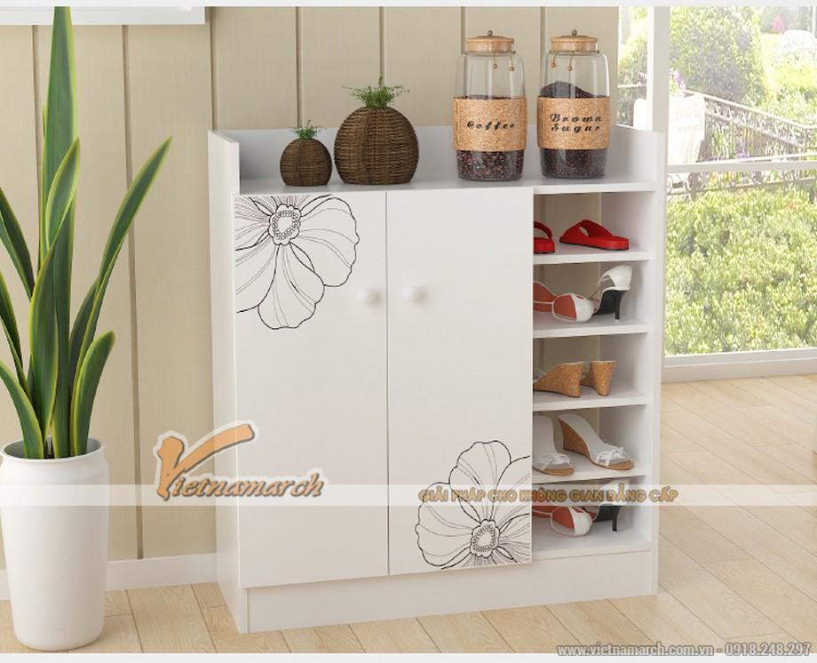 Các mẫu tủ giày kết hợp tủ rượu hiện đại-06