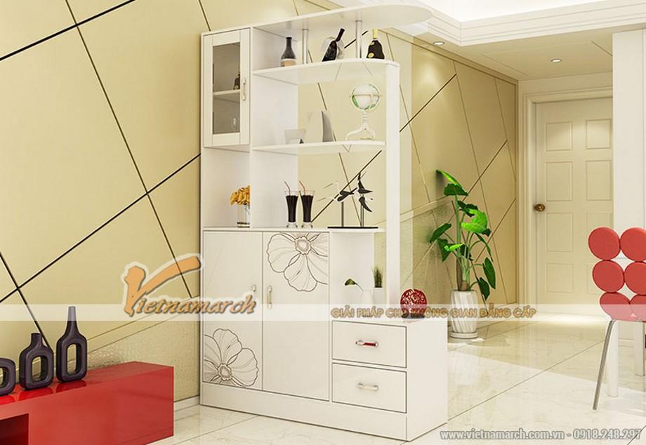 Các mẫu tủ giày kết hợp tủ rượu hiện đại-02