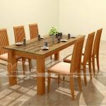 Một số mẫu bàn ăn cực chất, chất liệu gỗ tự nhiên cao cấp