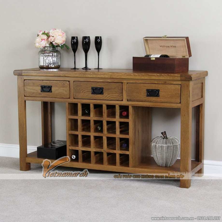 Một số mẫu tủ rượu gỗ sang trọng cho phòng khách-03