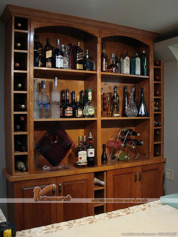 Một số mẫu tủ rượu gỗ sang trọng cho phòng khách-01