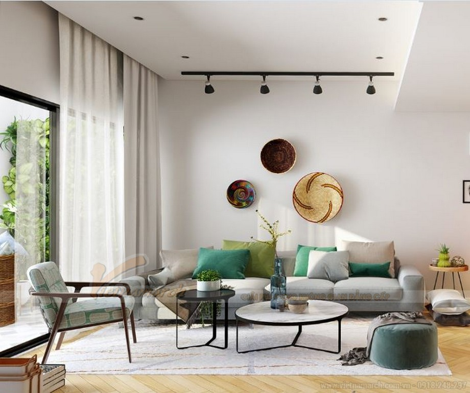 Mẫu thiết kế nội thất hiện đại căn hộ 02 tòa G2 Vinhome Green Bay-03