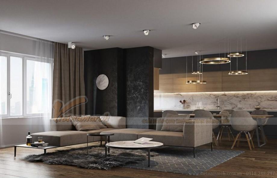 Thiết kế nội thất hiện đại cho căn hộ 12 tòa G1 chung cư Vinhome Green Bay-02