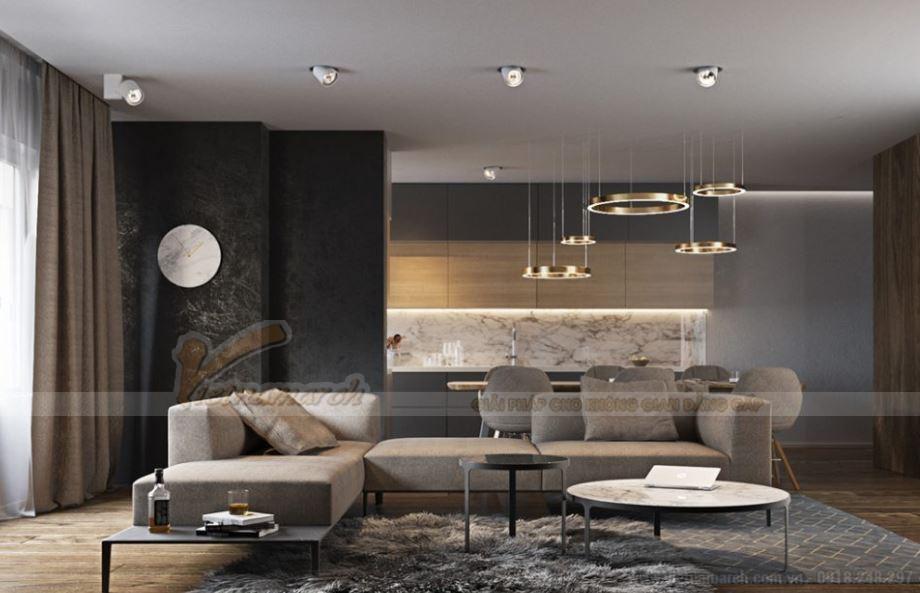 Thiết kế nội thất hiện đại cho căn hộ 12 tòa G1 chung cư Vinhome Green Bay-03
