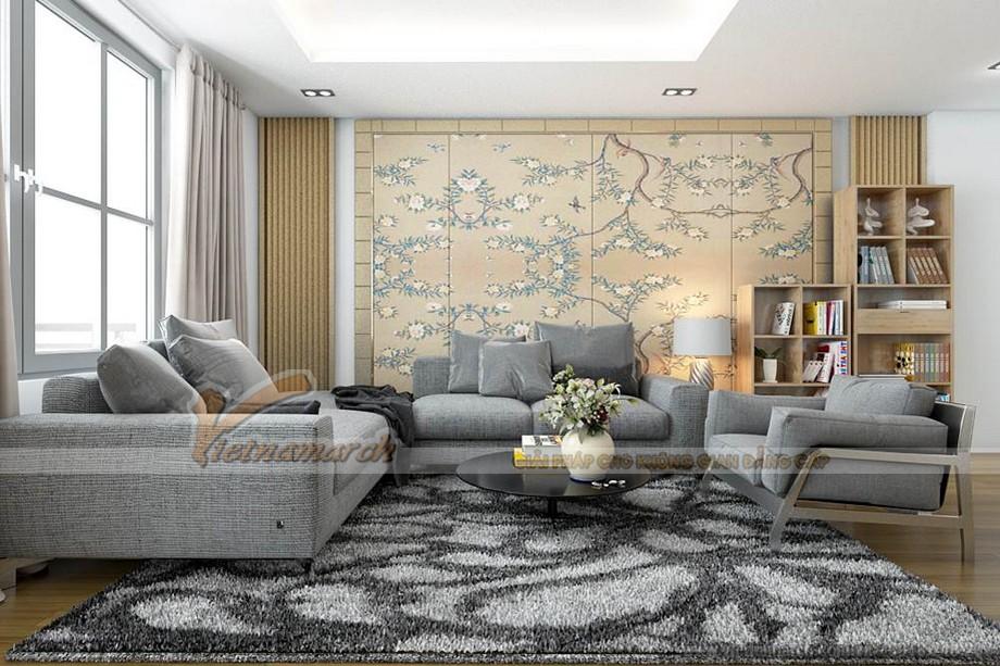Thiết kế nội thất phòng khách căn hộ Goldmark City