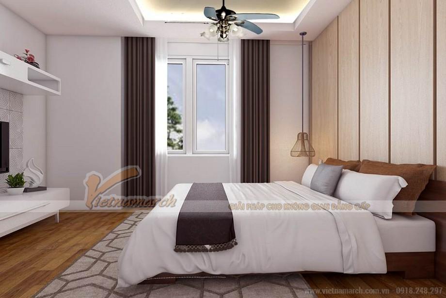 Phòng ngủ phụ 2 với cách thiết kế nhã nhặn, ấm cúng