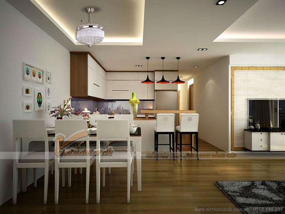 Nội thất phòng bếp và phòng ăn với thiết kế hiện đại