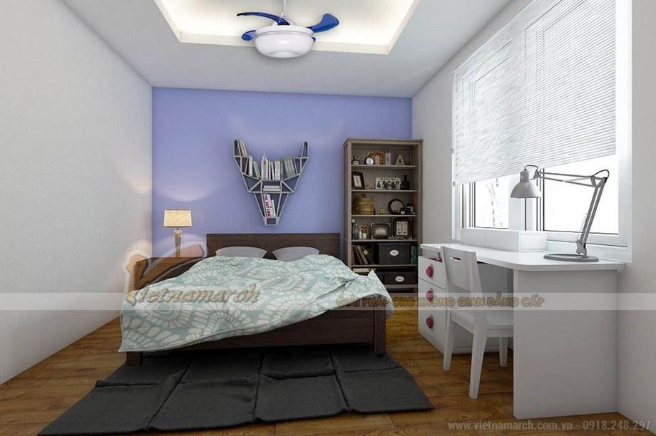 Phòng ngủ dành cho trẻ được bố trí khoa học và đồ nội thất thông minh