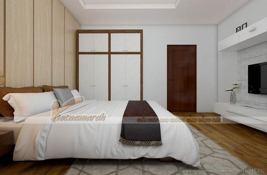 Phòng ngủ ấm cúng với nội thất được thiết kế đơn giản
