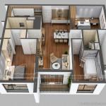 Phương án thiết kế nội thất căn hộ 06 tòa Ruby 1 Goldmark City