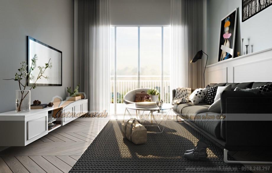 Thiết kế nội thất phòng khách căn hộ 04 tòa Sapphire 3 chung cư Goldmark City