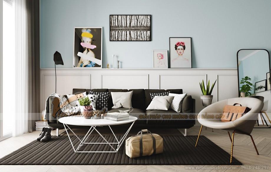 Nội thất phòng khách đơn giản mà hiện đại