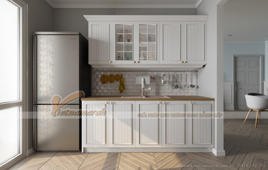 Tủ bếp được thiết kế dành riêng cho những căn bếp nhỏ
