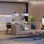 PHƯƠNG ÁN: Thiết kế nội thất căn hộ 96m2 chung cư Imperia Garden
