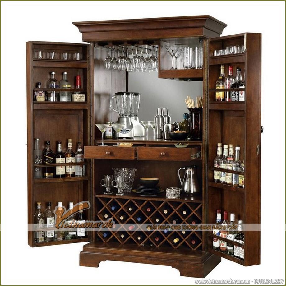 Tổng hợp các mẫu tủ rượu hiện đại cho không gian nội thất thêm sang trọng-01