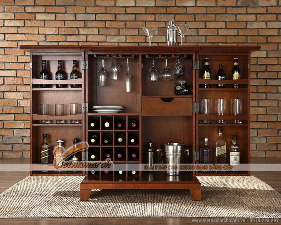 Tổng hợp các mẫu tủ rượu hiện đại cho không gian nội thất thêm sang trọng-05