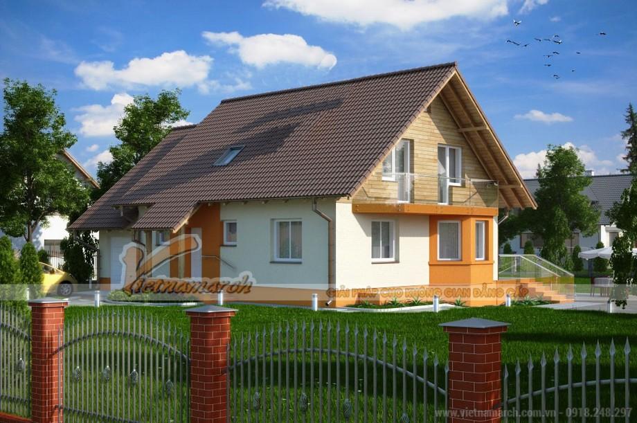 Ngôi nhà mái thái có gác lửng đẹp và hiện đại