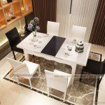 Những mẫu bàn ăn mở rộng mặt kính sang trọng và tinh tế