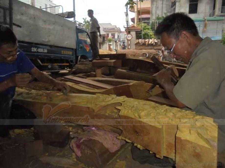 Nghệ nhân tại làng nghề Hương Ngải - Thạch Thất.