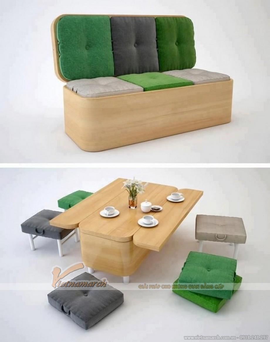 Bộ bàn ghế thiết kế thông minh
