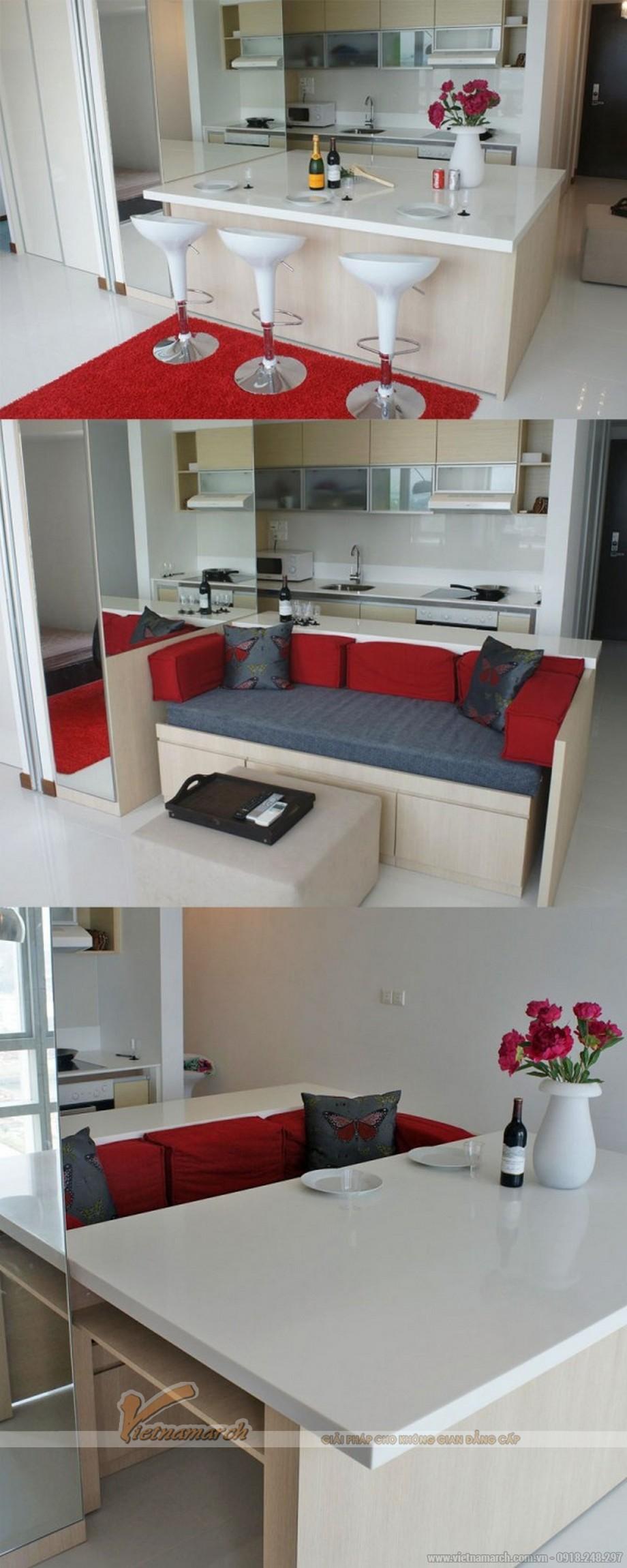 mẫu bàn bar này có cả ghế sofa