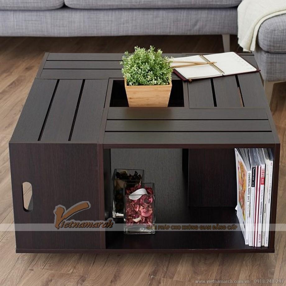 mẫu bàn trà hiện đại với thiết kế khối hộp vuông vắn