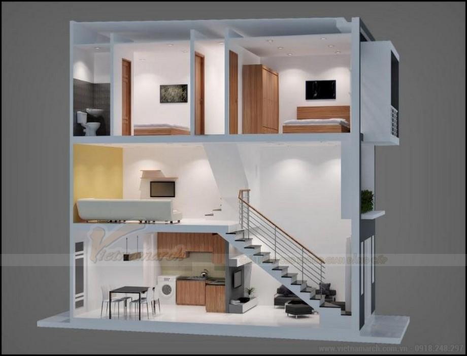 Mặt bằng bố trí nội thất 3 tầng