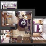 Thiết kế nội thất hiện đại với tông tím mộng mơ cho căn hộ  D tòa Ruby 3 Goldmark City