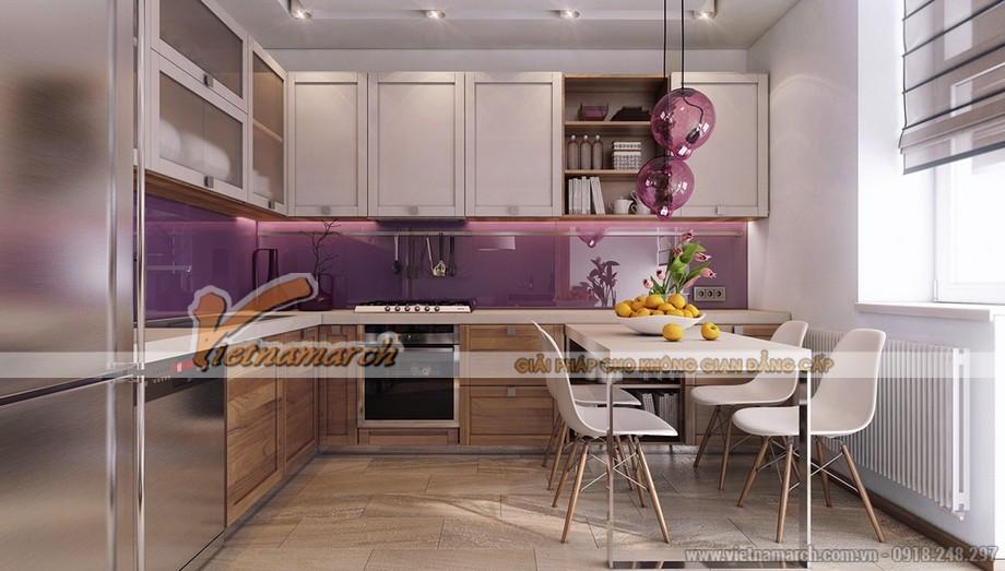 Nội thất phòng bếp hoàn hảo với tủ bếp, bộ bàn ăn đẹp