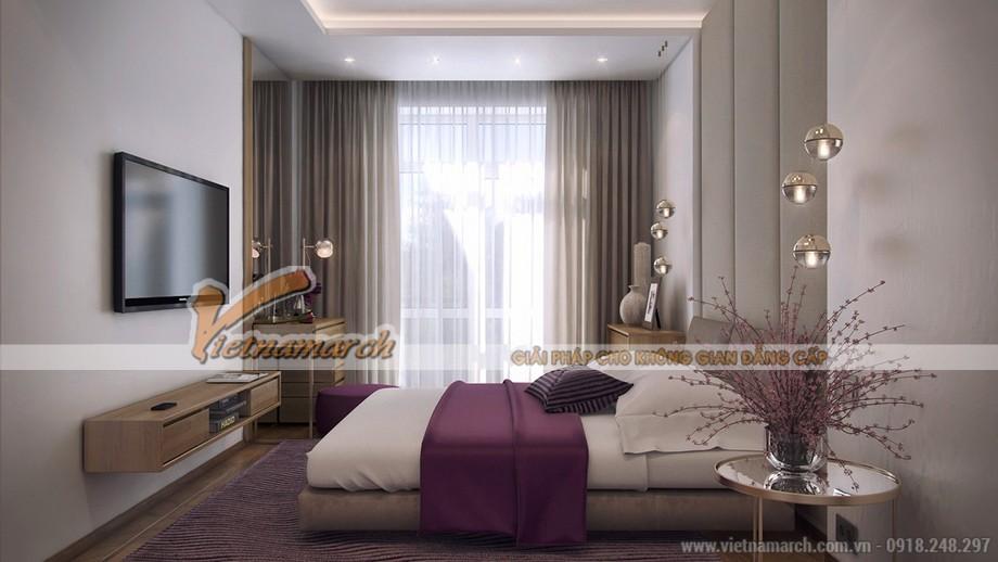 Thiết kế nội thất tông tím mộng mơ cho căn hộ 01 tòa Ruby 3 Goldmark City