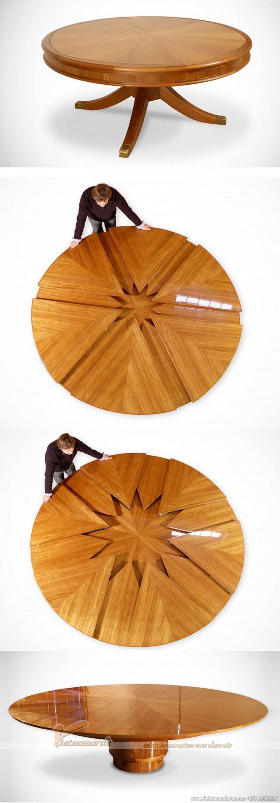 """Mẫu bàn này có thể """"nở"""" ra"""