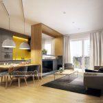 Ý tưởng thiết kế nội thất căn hộ chung cư Park Hill điểm xuyết tone màu vàng nổi bật