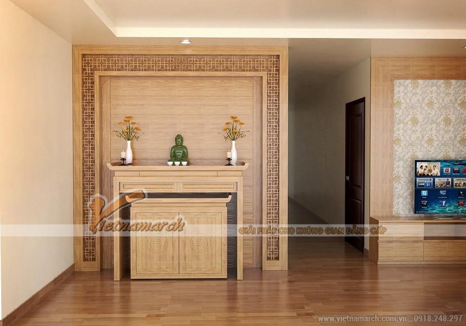 Các mẫu ban thờ đứng hiện đại phù hợp dành cho căn hộ chung cư