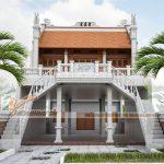Công trình nhà thờ tổ nhà anh Minh với 2 phương án thiết kế cổng