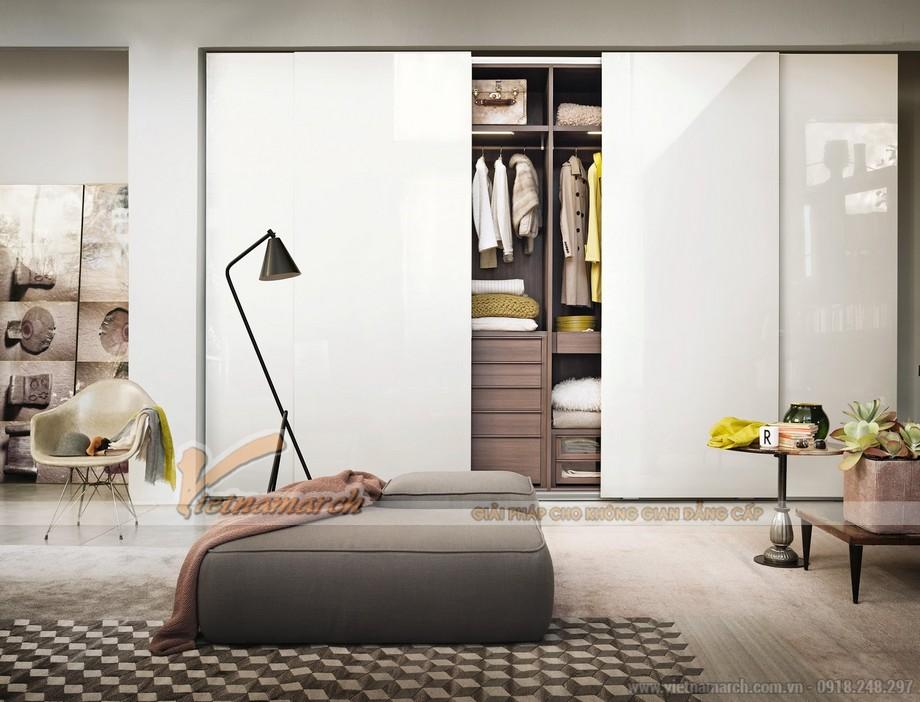 Thiết kế tủ quần áo cho không gian phòng ngủ ấn tượng, tinh tế, sang trọng