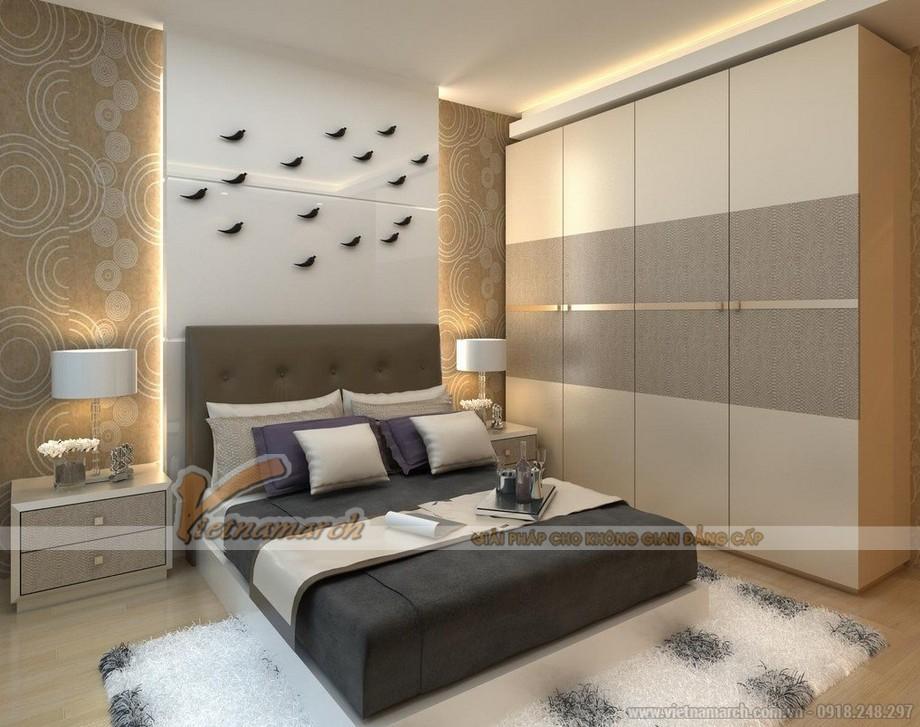 mẫu tủ âm tường, cánh lùa cho không gian phòng ngủ phong cách và ấn tượng 04