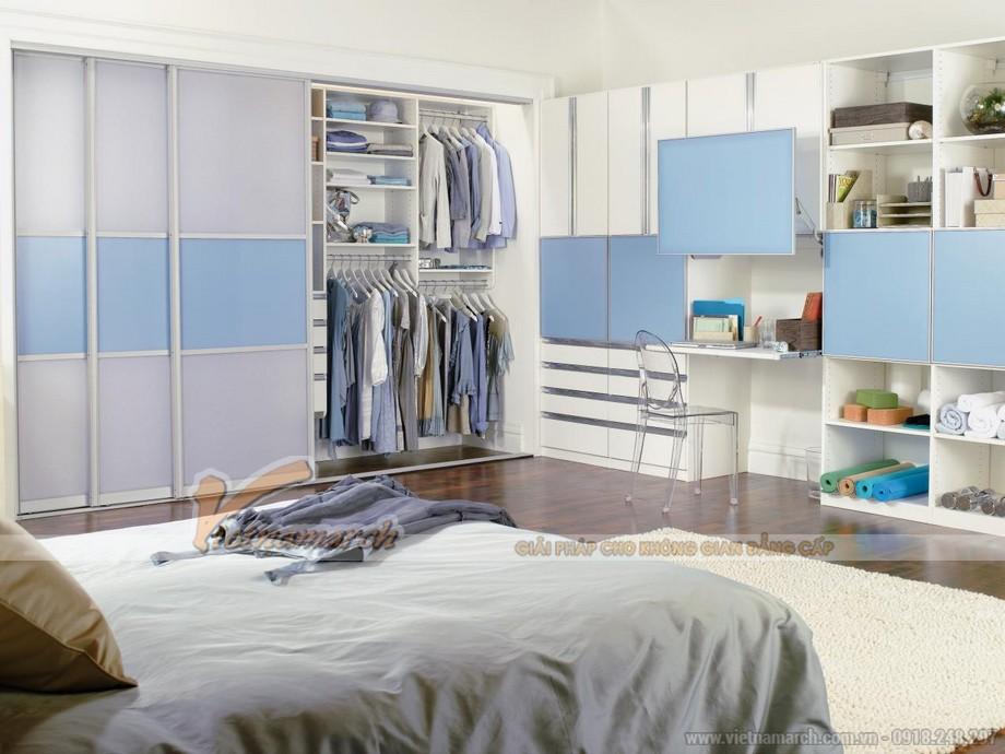 mẫu tủ âm tường, cánh lùa cho không gian phòng ngủ phong cách và ấn tượng 05